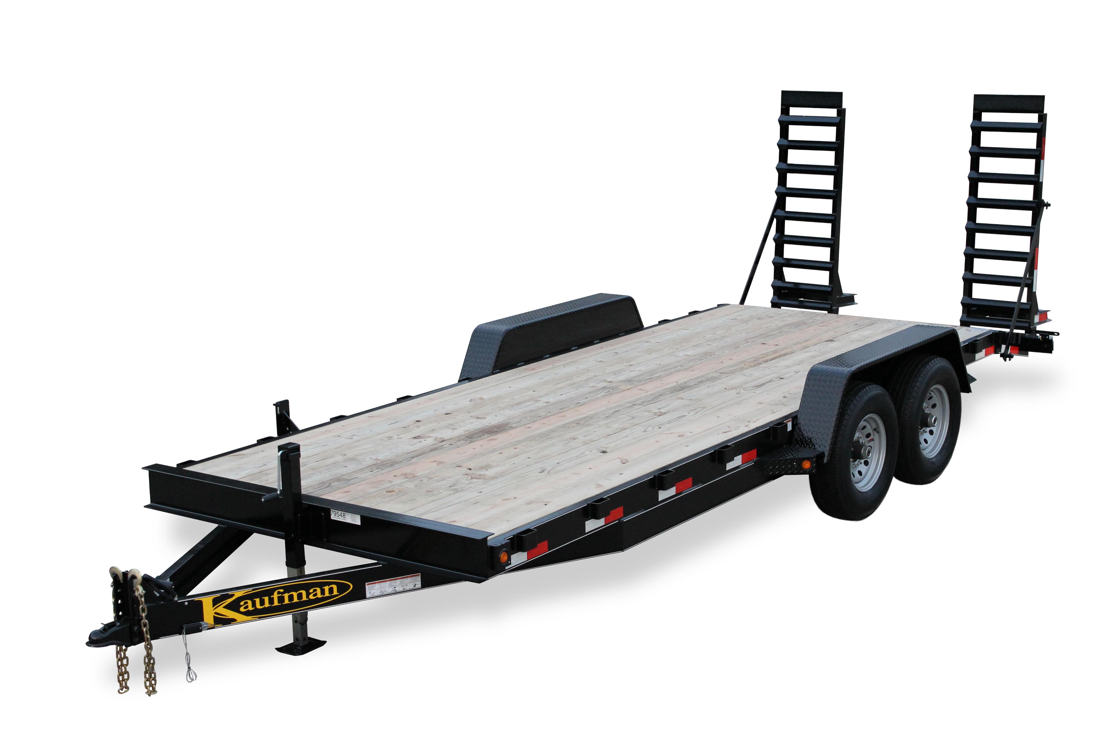 15000 GVWR Deluxe Wood Floor Equipment Trailer by Kaufman ...  Kaufman Dump Trailers