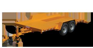 17000 GVWR Deluxe Gravity Tilt Forklift Trailer