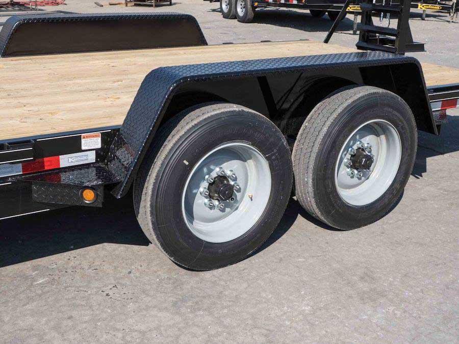 17000 gvwr deluxe wood floor equipment trailer by kaufman trailers Tent Trailer Tires