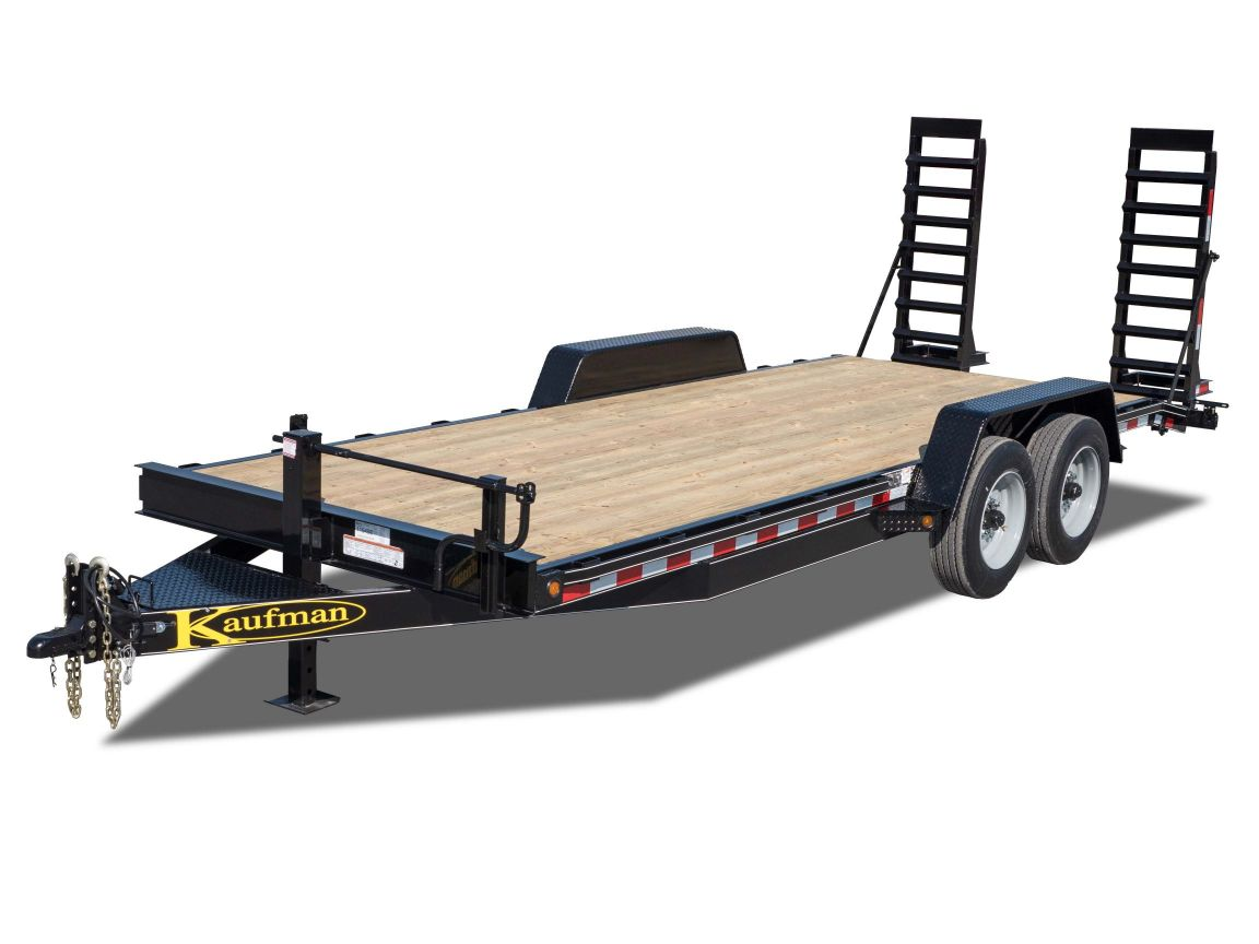 17000 GVWR Deluxe Wood Floor Equipment Trailer