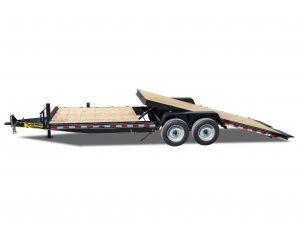 17000 GVWR Deluxe Wood Floor Tilt Equipment Trailer