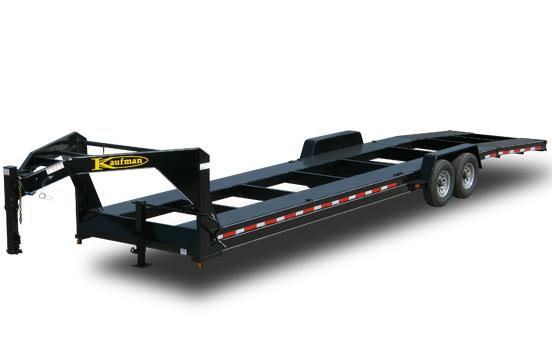 Two car gooseneck trailer