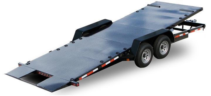 20 ft Diamond Floor Tilt Car Trailer