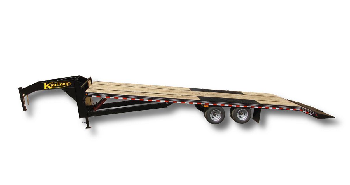 Deluxe 25900 GVWR Flatbed Tilt Gooseneck Trailer