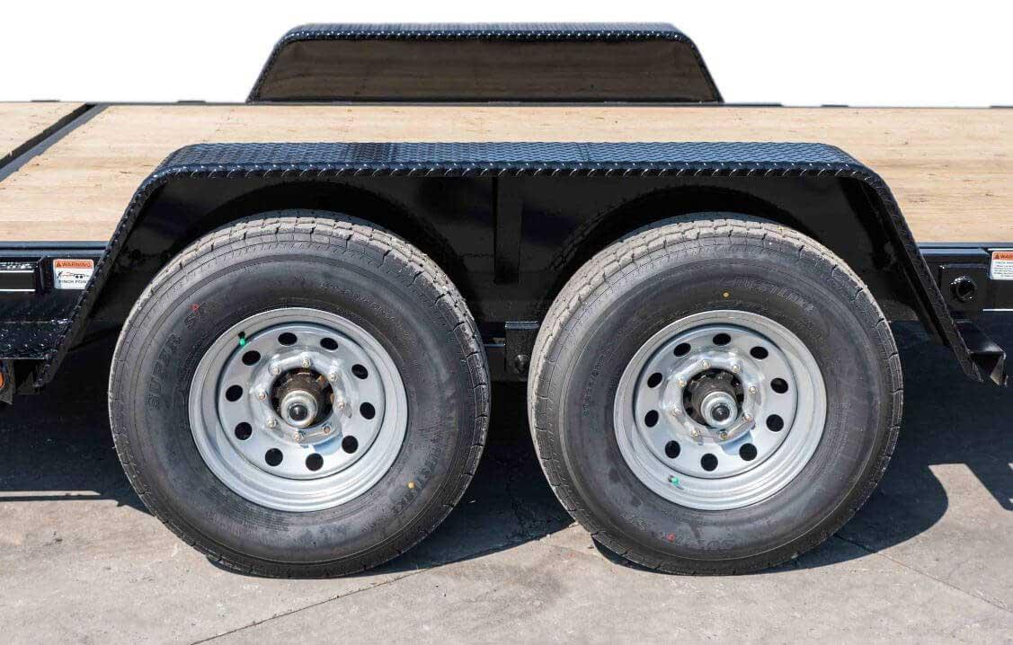 15000 gvwr deluxe wood floor tilt equipment trailer by kaufman Tent Trailer Tires