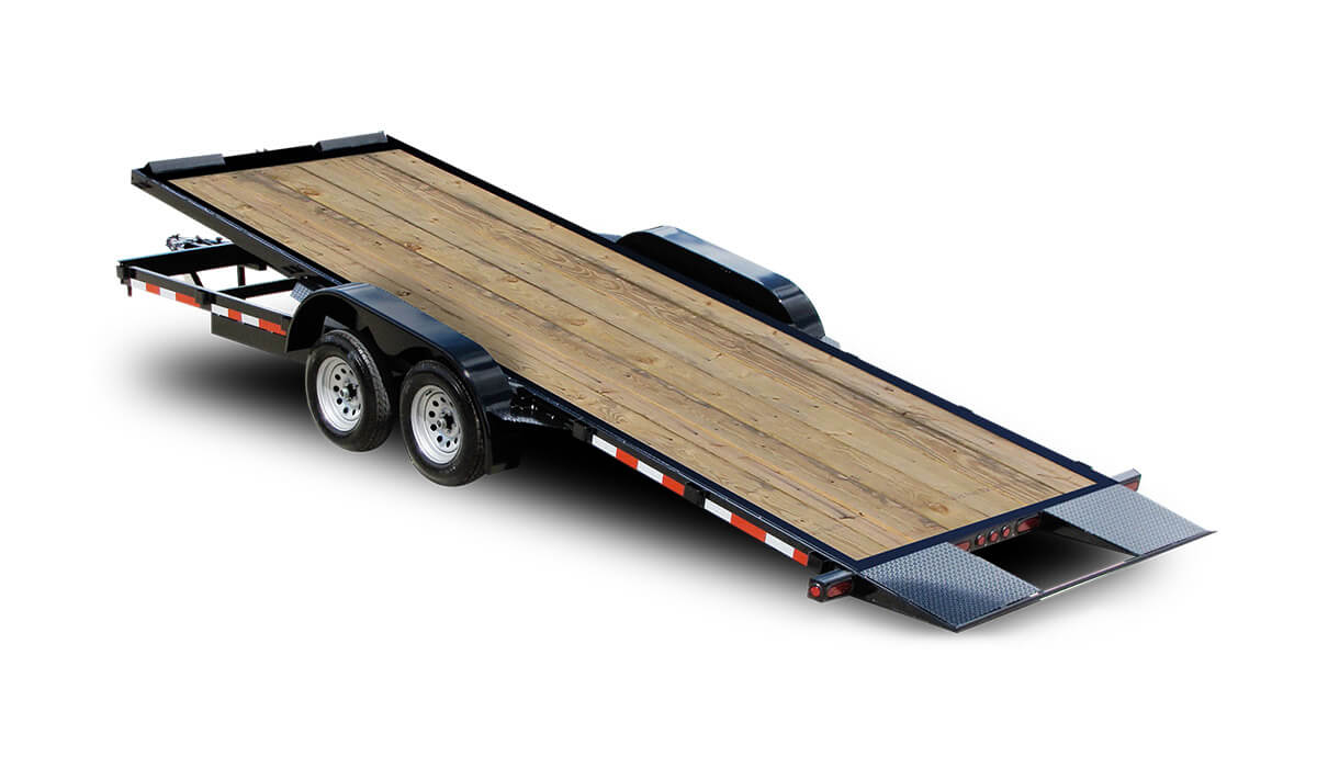 10 000 Gvwr 20 Ft Wood Floor Tilt Car Trailer Deluxe