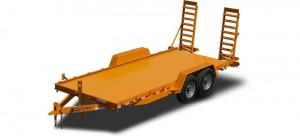 Diamond Deck Skid Steer Equipment Trailer