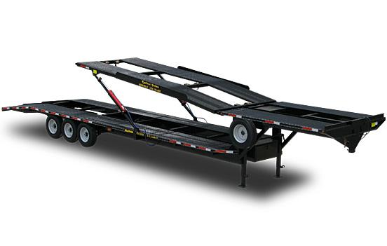double deck 4 car hauler trailer double deck ez 4 car hauler trailer by kaufman trailers Car Hauler Truck at crackthecode.co