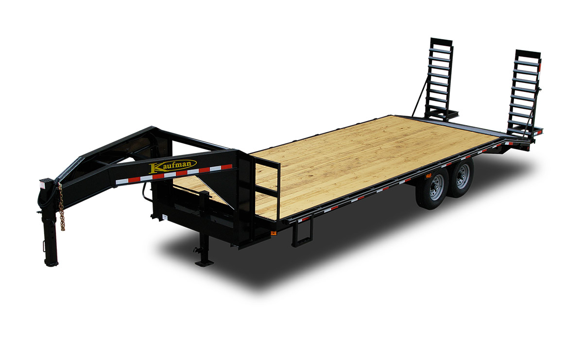 flatbed gooseneck tandem single standard 14000 gvwr flatbed gooseneck trailer by kaufman trailers 4 Prong Trailer Wiring Diagram at bayanpartner.co
