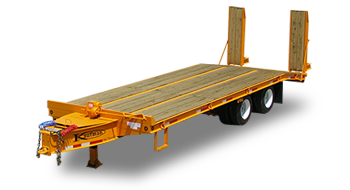 Flatbed Heavy Equipment Trailer