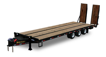 Heavy Equipment Flatbed Triaxle Trailer