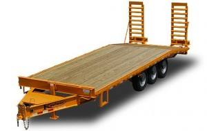 22500 GVWR Tri-axle Flatbed Trailer