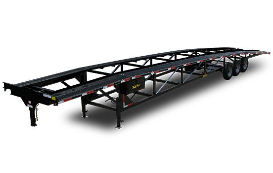 Triaxle Wedge Car Hauler Trailer