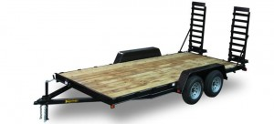 Wood Deck Equipment Trailer