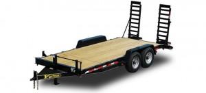 Wood Floor Equipment Trailer