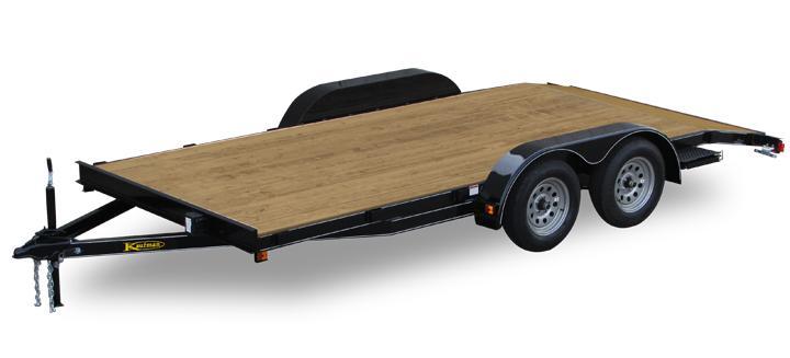 Basic Wood Floor Flatbed Utility Trailer