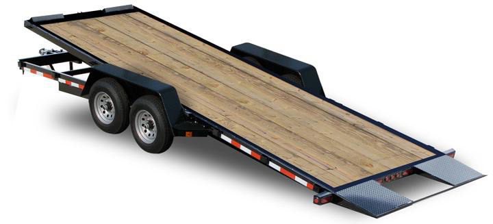 Wood Floor Tilt Car Trailer