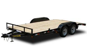 Wood Floor Flatbed Utility Trailer