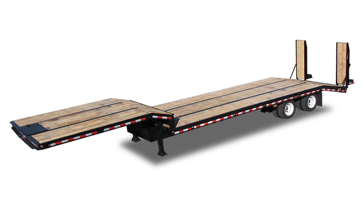 Drop Deck Flatbed Trailer For Sale By Kaufman Trailers Pj Gooseneck Wiring Diagram 55000 Gvwr 395 Ft Deluxe