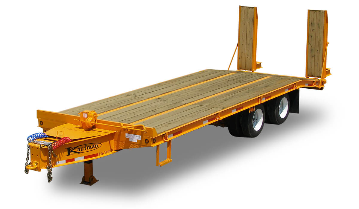 heavy equip flatbed large 45000 gvwr heavy equipment flatbed trailer by kaufman trailers 4 Prong Trailer Wiring Diagram at bayanpartner.co