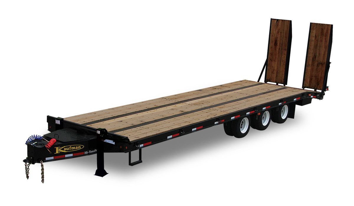 heavy equip flatbed triaxle large 62000 gvwr heavy equipment flatbed trailer by kaufman trailers kaufman trailer wiring harness at bayanpartner.co