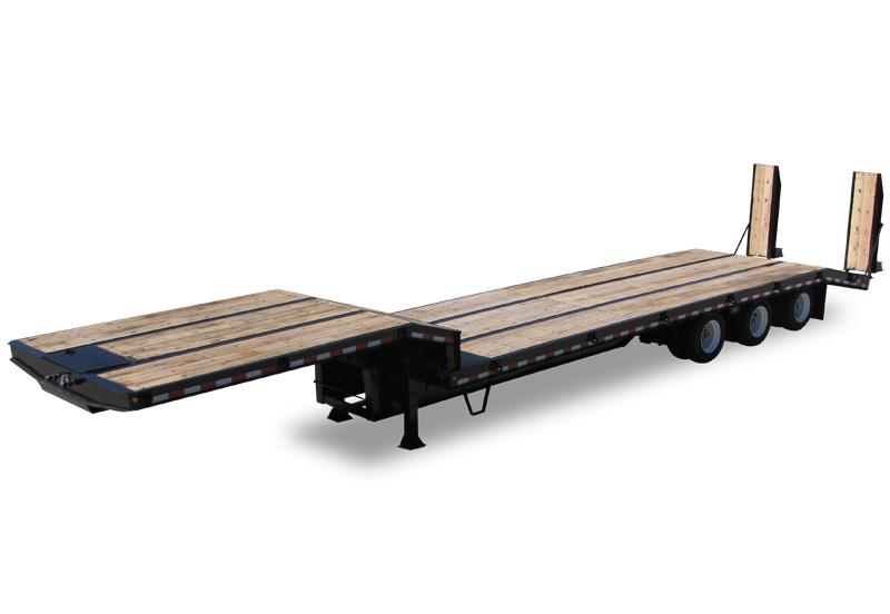 Tri-axle Drop Deck Flatbed Trailer