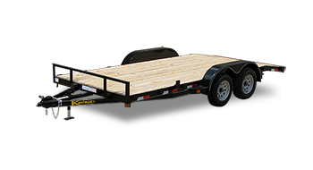 Wood Floor Flatbed Utility Trailers