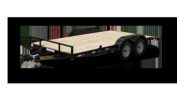 Wood Floor Flatbed Utility Trailers