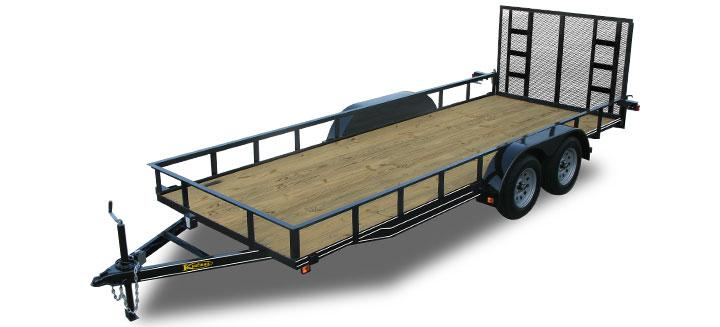 18ft landscape utility trailer