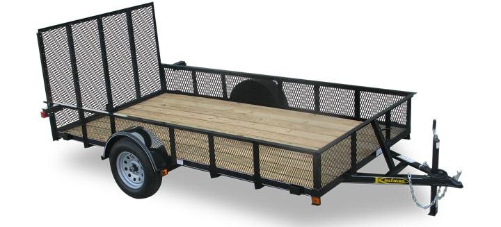 Deluxe Mesh Sides Single Axle Utility Trailers