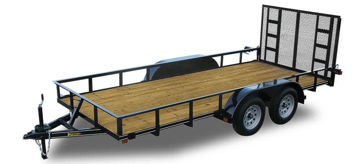 16 ft Landscape Utility Trailer