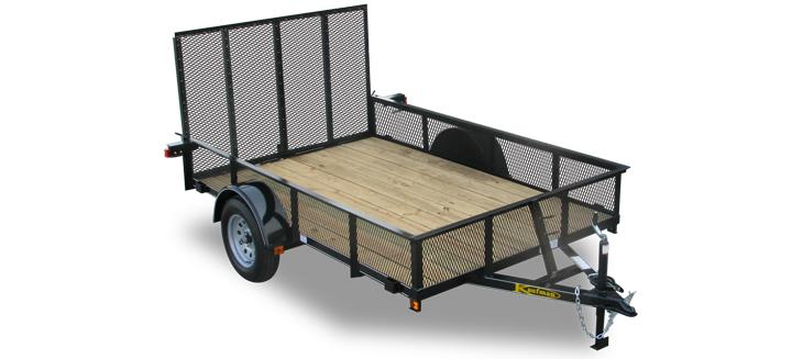 Standard Mesh Sides Single Axle Utility Trailers