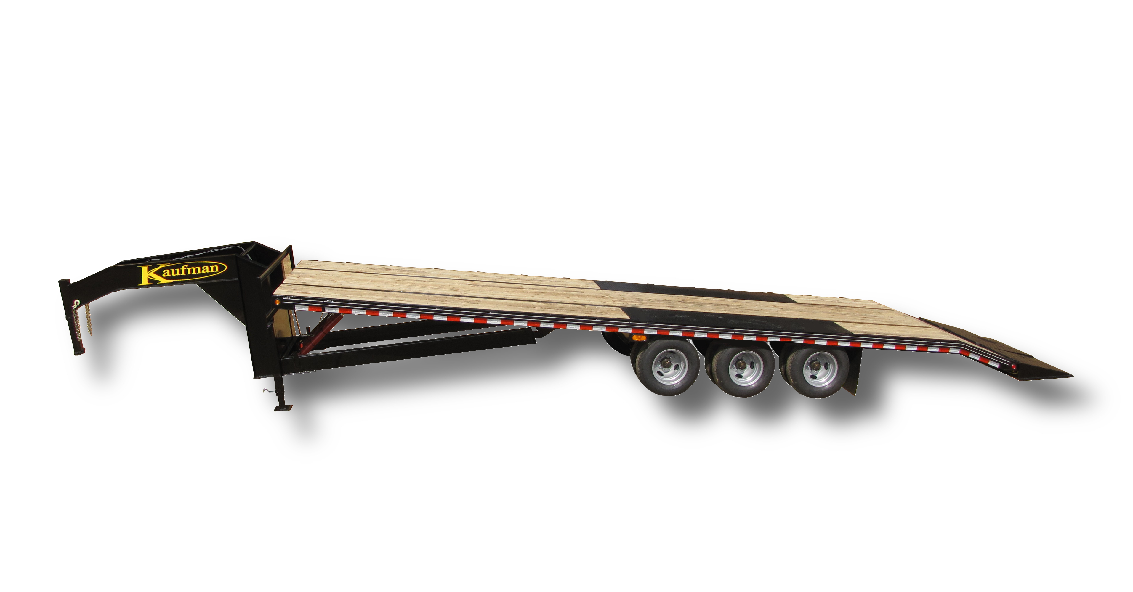 3 axle deluxe 38500 gvwr flatbed tilt gooseneck trailer by kaufman trailers kaufman trailer wiring harness at bayanpartner.co