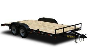 Deluxe 12000 GVWR Flatbed Utility Trailer