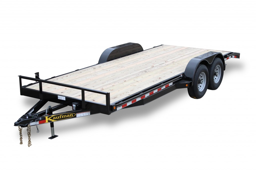 Deluxe 12000 gvwr flatbed utility trailer by kaufman trailers for Wood floor utility trailer